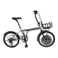 【自転車】折り畳み車 AMOUR 外装6段 20インチ シルバー【別送品】