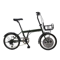 【自転車】折り畳み車 AMOUR 外装6段 20インチ カーキ