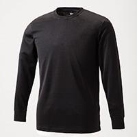 【数量限定】KUROCKER'S 保温長袖シャツ 丸首 ブラック 3L