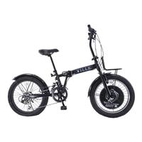【自転車】折り畳みFATバイク VILLE リアサスペンション 外装6段 ブラック【別送品】