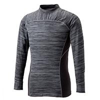 【数量限定】Hot-fine 裏起毛ストレッチワークシャツ 杢 L