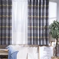 4枚組セットカーテン タンネチェック 100×135