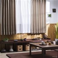 4枚組遮光セットカーテン 楓クール 100×110 ベージュ