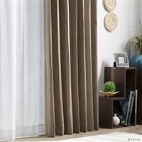 4枚組遮光セットカーテン 楓クール 150×210 ベージュ