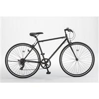 【自転車】クロスバイク FLECHE 外装7段 700×28C ブラック【別送品】