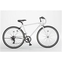 【自転車】クロスバイク FLECHE 外装7段 700×28C ホワイト【別送品】