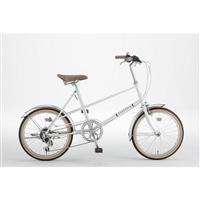 【自転車】ミニベロ PISTOIA 外装6段 20インチ ホワイト【別送品】