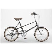 【自転車】ミニベロ PISTOIA 外装6段 20インチ ブラック【別送品】