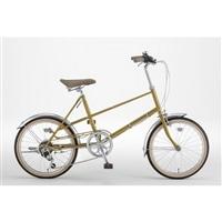 【自転車】ミニベロ PISTOIA 外装6段 20インチ マスタード【別送品】