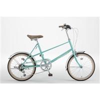 【自転車】ミニベロ PISTOIA 外装6段 20インチ ミントグリーン【別送品】