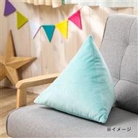 and cute三角クッション ブルー