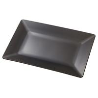 レンジで使える HAJIKU DRY+ 角皿長方形 黒茶色