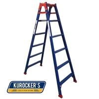 【SU】KUROCKER'S はしご兼用脚立ワイド踏ざんタイプ180CM CHK180BR