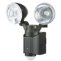 【数量限定】ソーラー式LEDセンサーライト2灯式 1.2W×2 SSL-2
