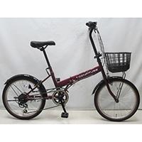 【自転車】折り畳み車 Confiture V 外装6段 ワインレッド