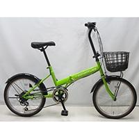 【自転車】折り畳み車 Confiture V 外装6段 グリーン