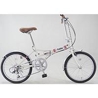 【自転車】折り畳み車 VILLE 外装6段 アイボリー