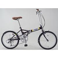 【自転車】折り畳み車 VILLE 外装6段 パープル