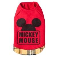 【数量限定】レイヤード風トレーナー ミッキーマウス レッド MD