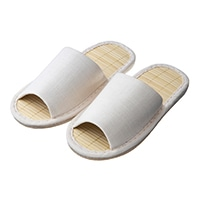 【2019春夏】竹スリッパ アイボリー 24-26cm