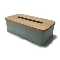 【店舗限定】木製フタ付きティッシュケース グリーン