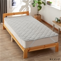 丸洗い出来る抗菌防臭・消臭ベッドパッド ダブル 140×200