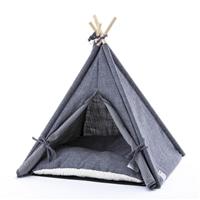 【数量限定】ペット用テント ティピー グレー