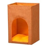 【数量限定】インナーボックス型ペットハウス 縦型 オレンジ
