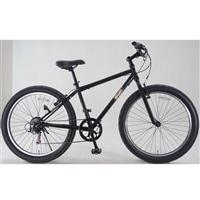 【自転車】ファットバイク バンフ 外装6段 26インチ マットブラック