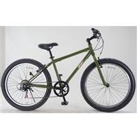 【自転車】ファットバイク バンフ 外装6段 26インチ カーキ