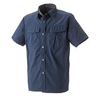 【2019春夏】スピードドライ 軽量ストレッチワークシャツ 半袖 ネイビー M