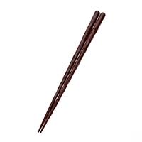 【trv】積層箸 刀彫 朱 23cm(食洗機対応)