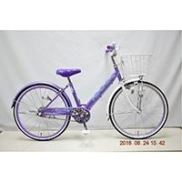 【自転車】子供車 POPSTYLE III 22インチ パープル【別送品】