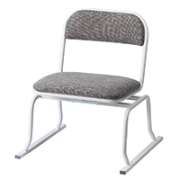 立ち上がりやすい回転椅子 グレー