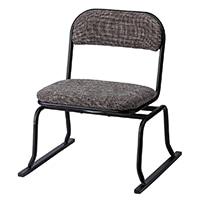 立ち上がりやすい回転椅子 ブラウン