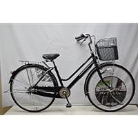 【自転車】KiLaCle パンクしにくい軽快車 内装3段 LEDオートライト 27インチ ブラック【別送品】