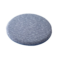 低反発オフィスサポート円形クッション ブルー
