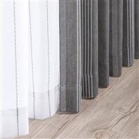 遮光+花粉キャッチ4枚組セットカーテン ブラウライン 150×178