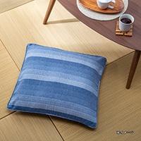 座布団カバー 葵ブルー 55×59