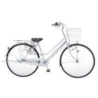 【自転車】KiLaLi パンクしにくい軽快車 内装3段 26インチ シルバー【別送品】