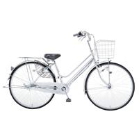 【自転車】KiLaLi パンクしにくい軽快車 内装3段 27インチ シルバー【別送品】