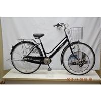 【自転車】KiLaLi パンクしにくい軽快車 内装3段 27インチ ブラック【別送品】