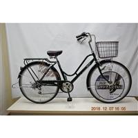 【自転車】KiLaLi パンクしにくいカジュアル軽快車 外装6段 26インチ ダークグリーン【別送品】