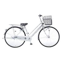 【自転車】【全国配送】KiLaCleパンクしにくいシティ車 内装3段 LEDオートライト 27インチ シルバー【別配送】