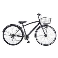 【自転車】【全国配送】KiLaLiパンクしないクロスバイク 外装6段 LEDオートライト ブラック【別配送】