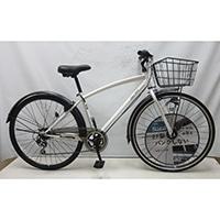 【自転車】【全国配送】KiLaLiパンクしないクロスバイク 外装6段 LEDオートライト ホワイト【別配送】