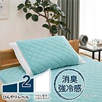 【2019春夏】もっとひんやり消臭枕パッド グリーン50×50