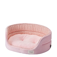 【2019春夏】丸型ベッド ピンク L