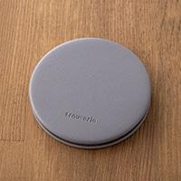 【trv】コンパクトミラー ラウンド グレー