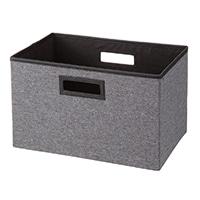 持ち運びしやすい折りたたみ収納ボックス デニム風グレー